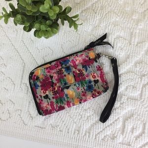 Thirty-One Floral Print Wristlet